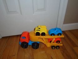 Plastic Car Carrier with 3 Cars - $5