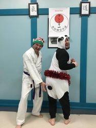 Christmas Panda and Matt