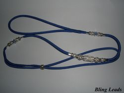 Electric blue Kindness Slip with silver.