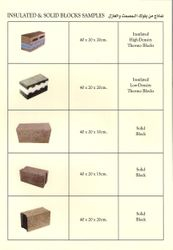 Insulated and Solid Blocks Samples