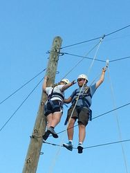 Michael and Logan begin partners ropes