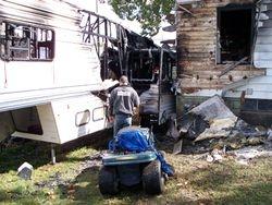 Camper fire, 10-1-08