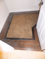 Extra Master Bedroom Closet with Hardwood Border & Carpet Inset