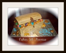 Pirate's Treasure Chest Cake