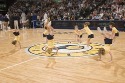 Performing at a game!