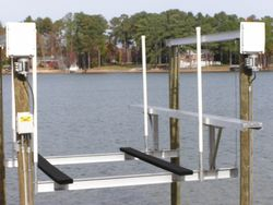 A raised walk board is perfect for cleaning your boat