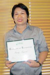 Yours Truly with my Certificate of Recognition