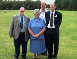 Me, Mum, Russell & Kevin at Carly & Paul's Wedding