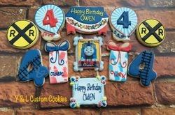 Birthday Cookies Thomas the Train Theme