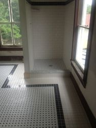 New bathroom tile and shower