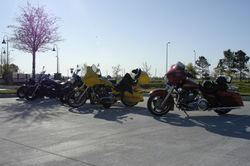 Bikes at registration site