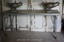 #23/139 French Industrial Folding Table
