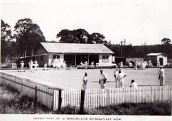 Bowling Club at Batemans Bay, 1954, Two Greens and a Clubhouse