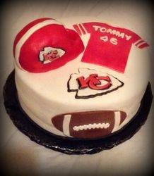 Kansas City Chiefs Football Cake