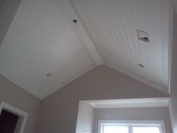 Tongue & Groove Ceiling with Faux Beams
