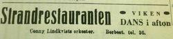 Strandrestauranten 1913