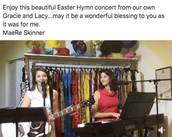 Virtual Easter Concert By Gracie and Lacy