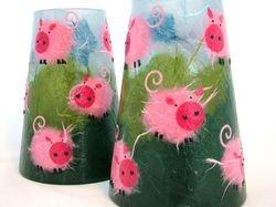 Piggies Conical Vases
