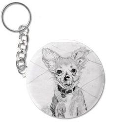 Your Pet Portrait on a key chain!