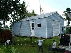 12x30 craned into yard