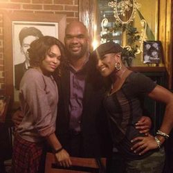 Demetria McKinney, Chris & Terri J. Vaughn Out For Karaoke Night!