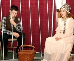 Molly Hawley (Ivy Poitras) visits Jessie Hawley (Jacob Davis)