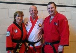 Sheila & Martin Dixon of the BJJA with Sensei Alan Mitchell
