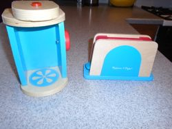 Melissa & Doug Wooden Toaster & Coffee Maker - $17