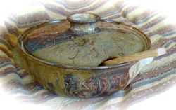 Oval Lidded Casserole with Spoon Rest