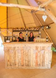 Vintage bar in a fabulous Tipi