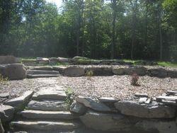 boulder walls/steps