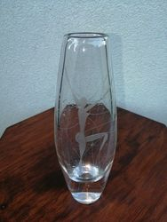 Storo stiklo Art Deco stiliaus vaza. Kaina 42