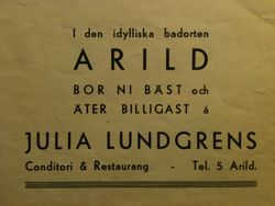 Julia Lundgrens konditori 1946