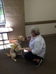 Cris Gerard and her Canine Companion trainee