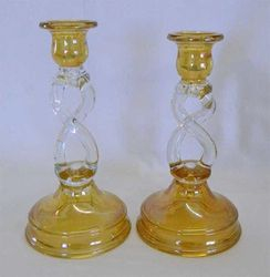 Double Helix candlesticks by Tiffin/U.S. Glass