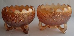 Orange Tree rose bowls, marigold