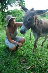 Ann with a Belmont donkey