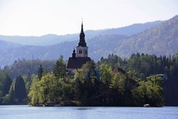 Bed Island on Lake Bled, Slovenia