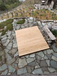 Terrassenboden für Hotpot