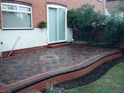 Block paved patio