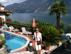 Nika in Limone, Lake Garda, Italy, 2013.