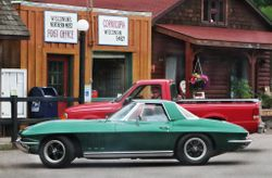 We all noticed the green Corvette in town 7/25/14