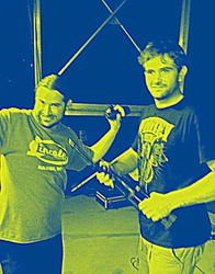 Robert and Chris --the fabulous sound and music crew