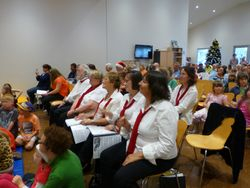 The choir ready to sing