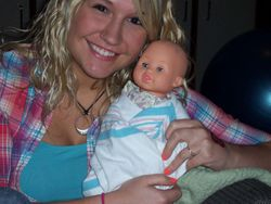 My baby holding a baby!