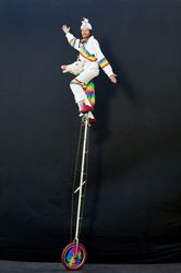Unicorn Riding a 12' Tall Unicorn Unicycle