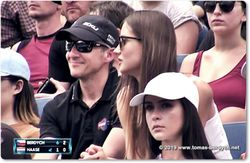 Ester Berdych Satorova spotted cheering on her husband