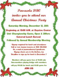 Flyer for Christmas Party