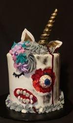 Zombie Unicorn Cake