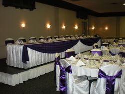 Purple & White Damask 1